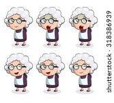old woman in action. vector.... | Shutterstock .eps vector #318386939
