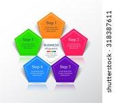 vector infographic. template... | Shutterstock .eps vector #318387611