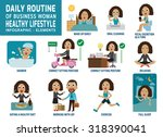 daily routine | Shutterstock .eps vector #318390041