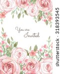 flower wedding invitation card  ... | Shutterstock . vector #318393545