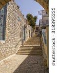 ancient town sefad street scene.... | Shutterstock . vector #318395225