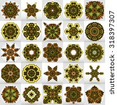 beautiful mandala set. round... | Shutterstock .eps vector #318397307