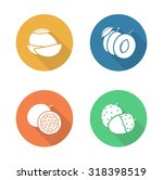 fruits flat design icons set.... | Shutterstock .eps vector #318398519