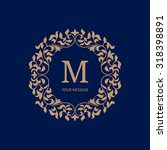 elegant floral monogram design... | Shutterstock . vector #318398891