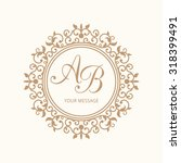 elegant floral monogram design... | Shutterstock . vector #318399491