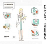 professional female doctor... | Shutterstock .eps vector #318401495