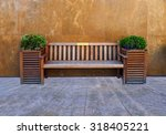 Wooden Hotel Bench
