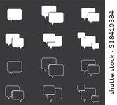 speech bubble icon set . vector ...