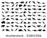 dinosaur silhouettes isolated... | Shutterstock .eps vector #31841506