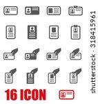 vector grey id card icon set. | Shutterstock .eps vector #318415961