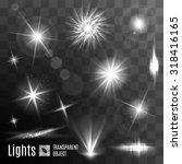 set of black and white lens...   Shutterstock .eps vector #318416165