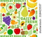 typographic vector fruits... | Shutterstock .eps vector #318425537