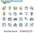 trendy flat line icon pack for... | Shutterstock .eps vector #318432125