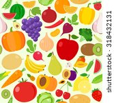 vector fruits and vegetables... | Shutterstock .eps vector #318432131