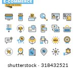 trendy flat line icon pack for... | Shutterstock .eps vector #318432521