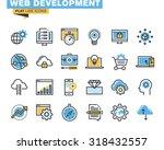 trendy flat line icon pack for... | Shutterstock .eps vector #318432557