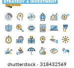 trendy flat line icon pack for... | Shutterstock .eps vector #318432569