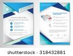vector brochure flyer design... | Shutterstock .eps vector #318432881
