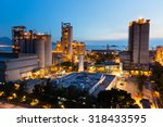 cement factory at night | Shutterstock . vector #318433595