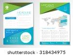 vector brochure flyer design... | Shutterstock .eps vector #318434975