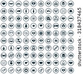 love 100 icons universal set... | Shutterstock . vector #318437465