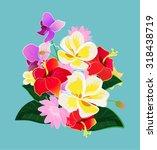 vector flowers illustration | Shutterstock .eps vector #318438719