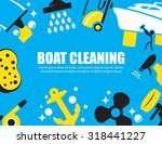 boat cleaning | Shutterstock .eps vector #318441227