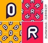 letter o  r color signs with... | Shutterstock .eps vector #318446159