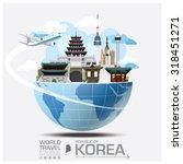 republic of korea landmark... | Shutterstock .eps vector #318451271