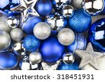 Blue And Silver Christmas Ball...
