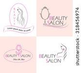 set of vector logo templates ... | Shutterstock .eps vector #318456974