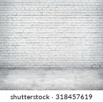 room interior with white brick... | Shutterstock . vector #318457619