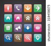 ui outline for web and mobile... | Shutterstock . vector #318458075