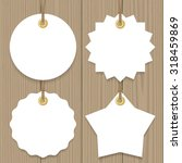 blank sale tags mock up set.... | Shutterstock .eps vector #318459869