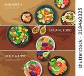Food Web Banner Flat Design....