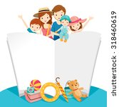 happy family with summer trip... | Shutterstock .eps vector #318460619