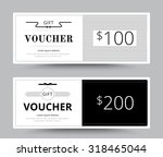 gift voucher card. business... | Shutterstock .eps vector #318465044