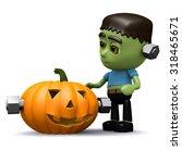 3d render of halloween monster... | Shutterstock . vector #318465671