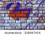 beautiful street art graffiti.... | Shutterstock . vector #318467414