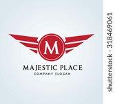majestic place  m letter logo... | Shutterstock .eps vector #318469061