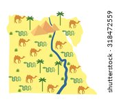 egypt map. characters and... | Shutterstock . vector #318472559