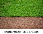 Dirt Track And Grass Baseball...