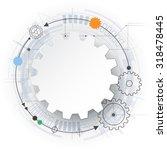 vector futuristic technology ...   Shutterstock .eps vector #318478445