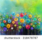 Abstract Floral Watercolor...