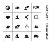 social media icons universal... | Shutterstock . vector #318481091