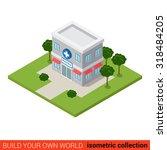 flat 3d isometric pharmacy... | Shutterstock .eps vector #318484205