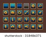 web design buttons set. vector... | Shutterstock .eps vector #318486371