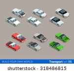 flat 3d isometric high quality... | Shutterstock .eps vector #318486815