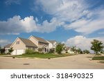 suburban neighborhood in the... | Shutterstock . vector #318490325