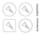 spatula icon. finishing repair... | Shutterstock .eps vector #318495491